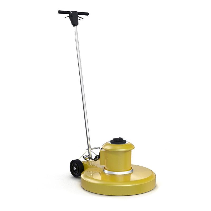floor buffer 3d model