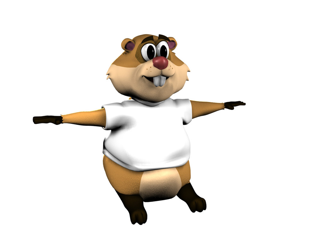 3d groundhog cartoon