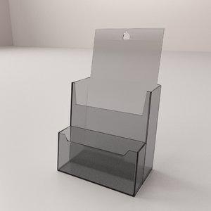 3d brochure holder model