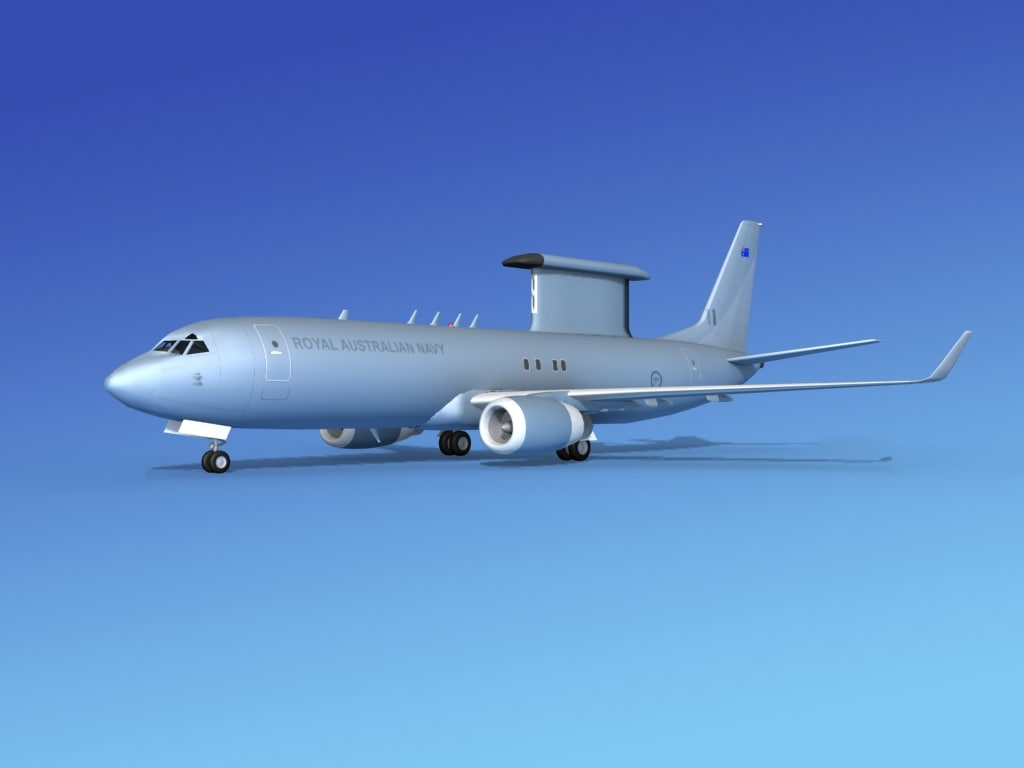 aircraft boeing 3d model