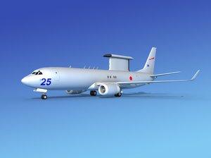3d model aircraft boeing