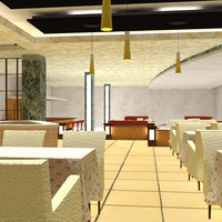 restaurant sets interior 3d pz3