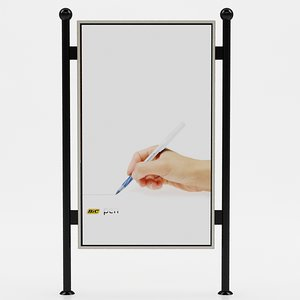 advertising panel 3d max