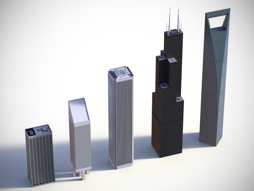 3d max low-poly building