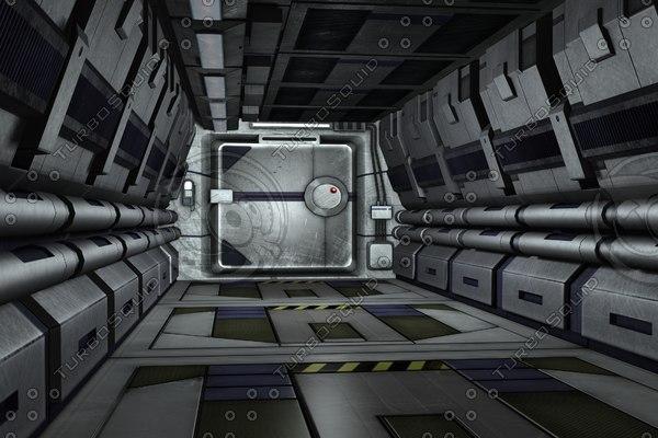 3d modular sci fi wall
