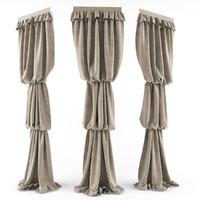 curtain classic 3d obj