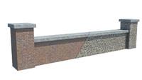 3d 3ds modular bricks wall