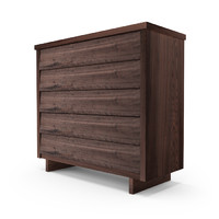 hudson chest drawers console 3d model