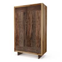 hudson french walnut armoire 3d model