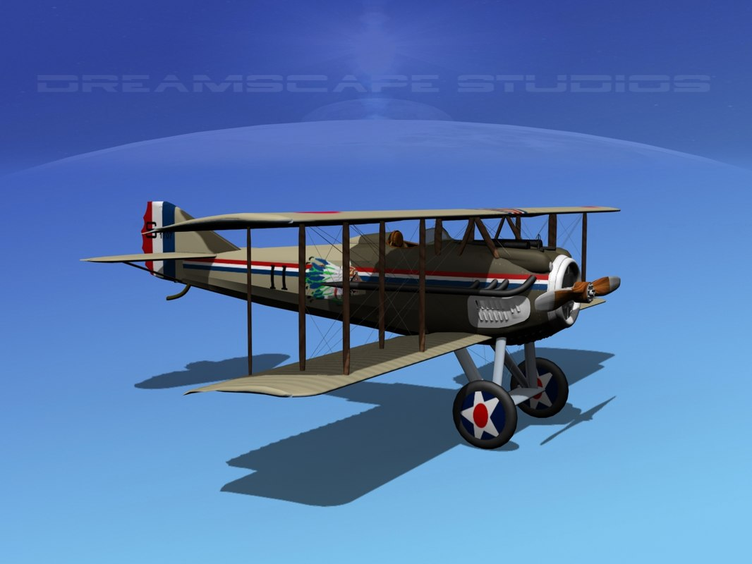 spad xiii xii fighters 3d model