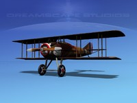 3d spad xiii xii fighters model
