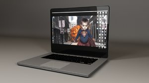 3d obj laptop computer