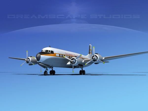 3d propellers douglas dc-7 dc-7b