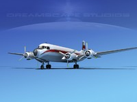 propellers douglas dc-7 dc-7b obj