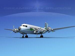propellers douglas dc-7 dc-7b 3d model
