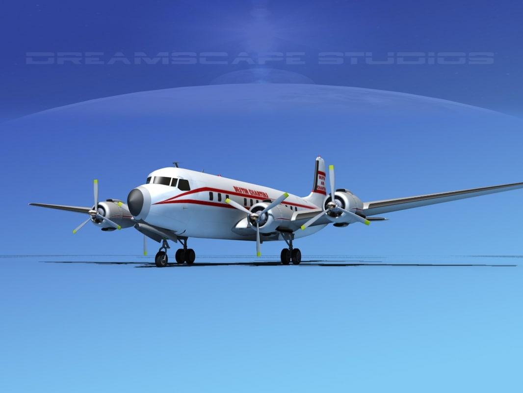 propellers douglas dc-7 dc-7b 3d obj