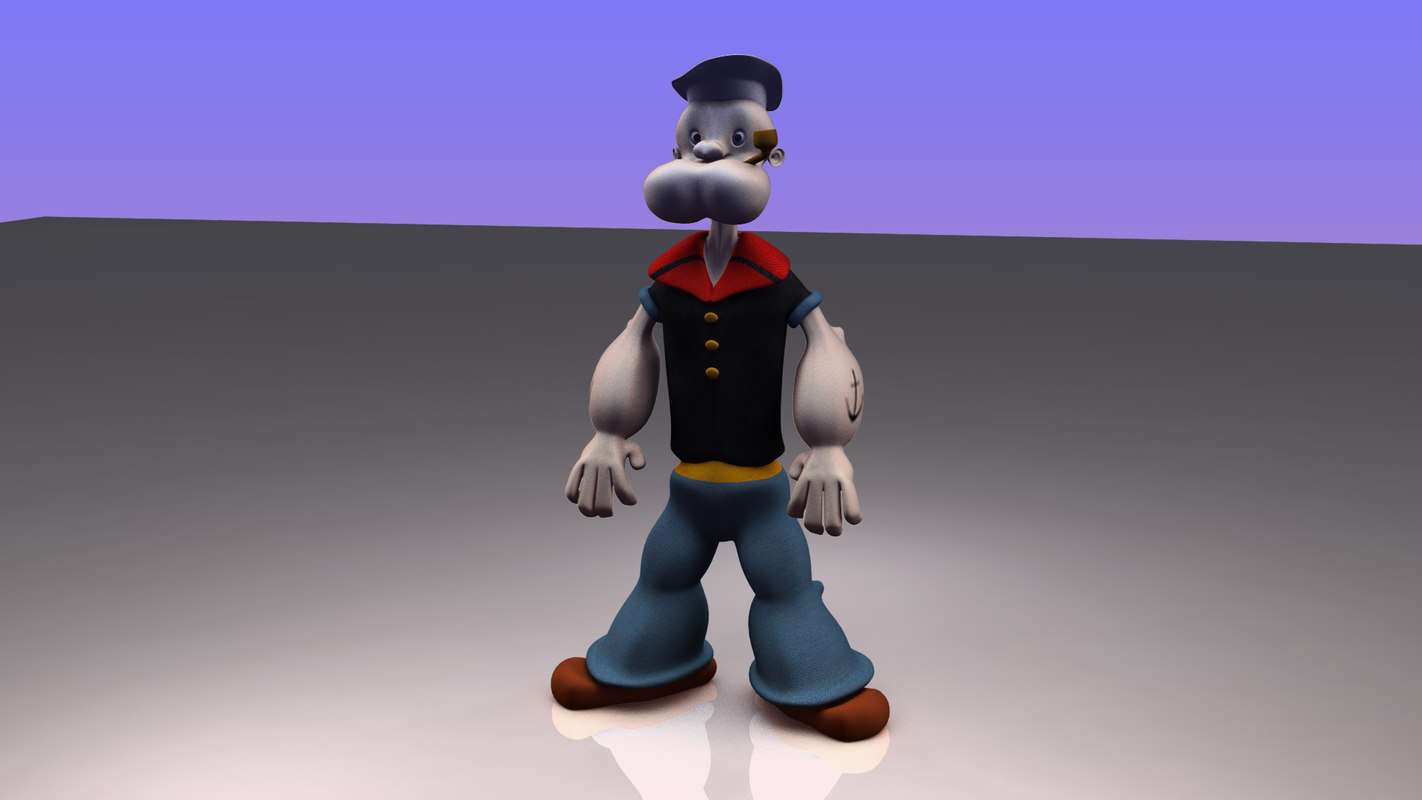 3d 3ds popeye cartoon