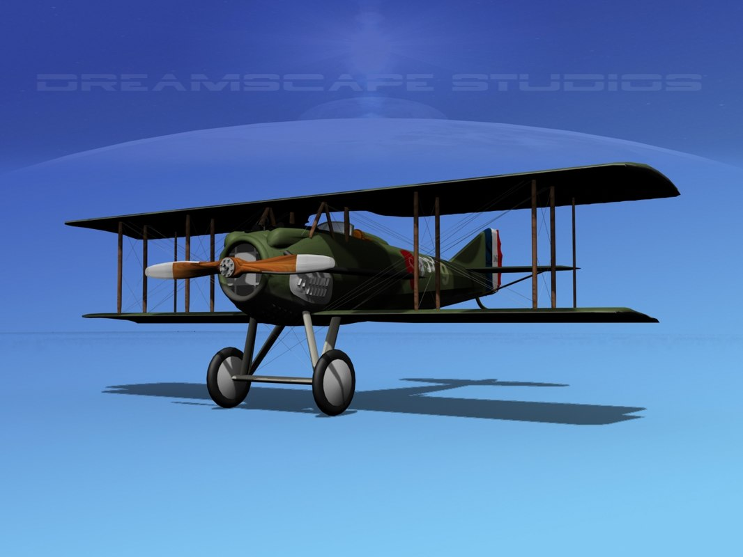 3d model spad xiii xii fighters