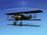 spad xiii xii fighters 3d max