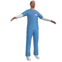 3d model nurse paramedic
