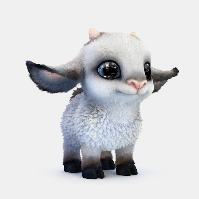 3d cute cartoon sheep model