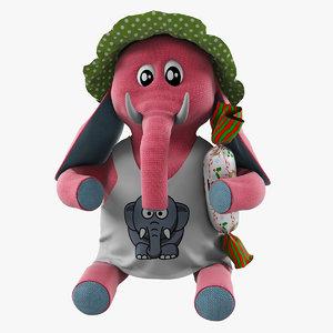 3d toy elephant model