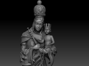 zbrush virgin mary 3d 3ds