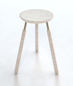 minimalist raft stool 3d model