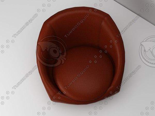 3d model capri chair minotti