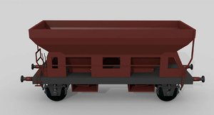 3ds max german self-unloading railcar