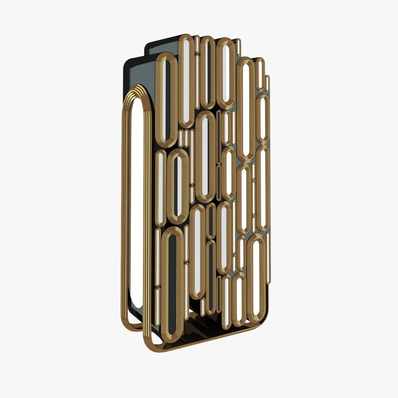 bar cabinet oblong 3d model
