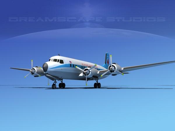 propellers douglas dc-7 dc-7b 3d dwg