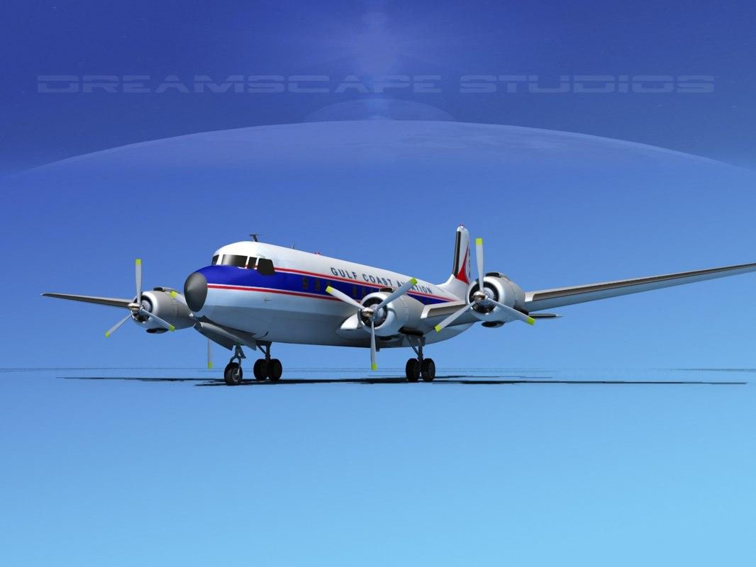 3d propellers douglas dc-7 dc-7b model
