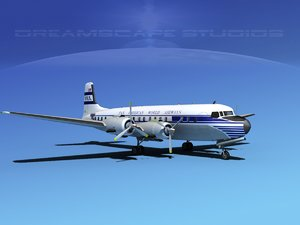 3ds propellers douglas dc-7 american