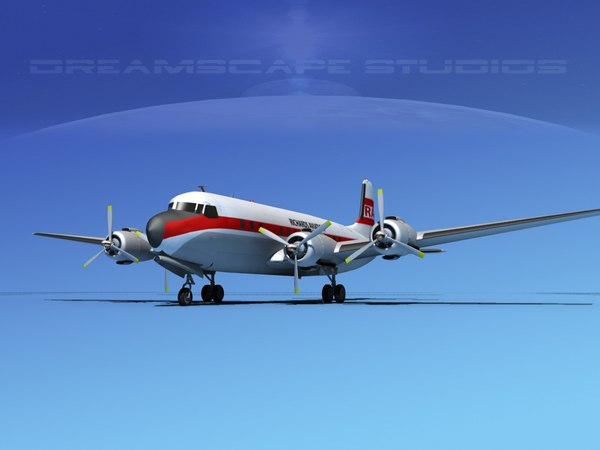 propellers douglas dc-7 dc-7b dxf