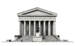 3d model federal hall new york