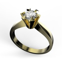 solitaire-ring 0 60ct 3d model