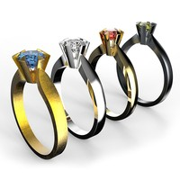 set solitaire ring obj