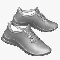 3d model sneaker feet