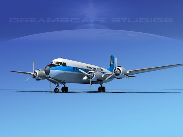 propellers douglas dc-7 dc-7b 3d max