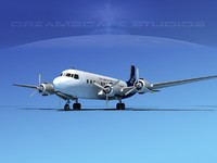 propellers douglas dc-7 dc-7b 3ds