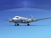 3d 3ds propellers douglas dc-7 dc-7b