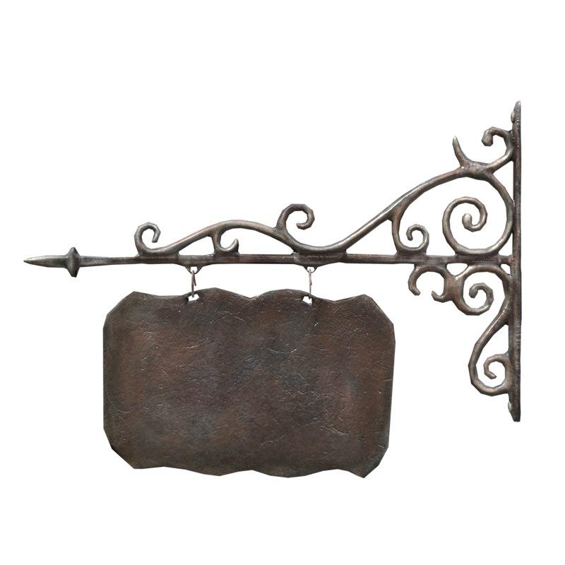 3d model cast iron signboard