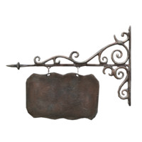 Cast iron signboard