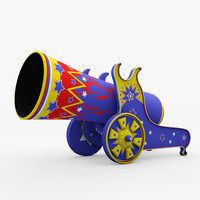 3d circus cannon