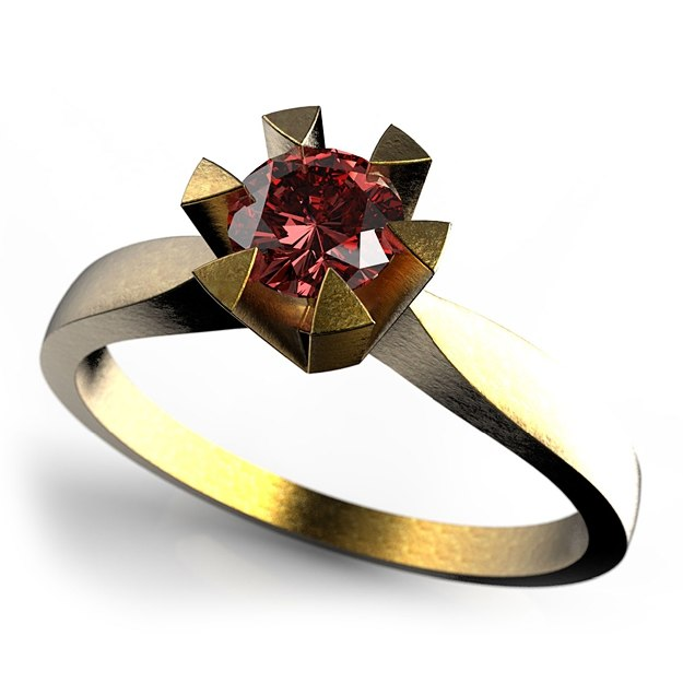 3d solitaire ring 0 25ct