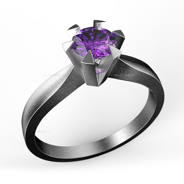 solitaire ring 0 40ct 3d model
