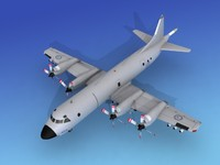 3d orion aircraft lockheed p-3 model