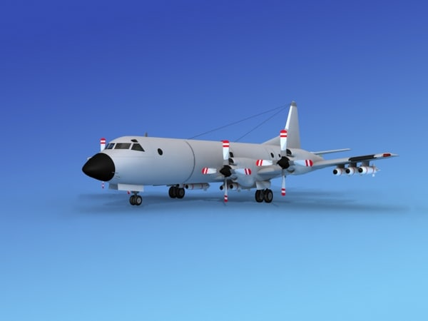 3d dwg orion lockheed p-3