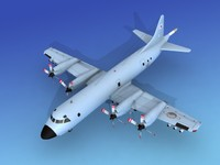 3d lockheed orion p-3 model